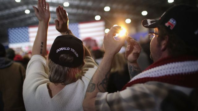 gettyimages 952548906 Trump Says He Relishes Enthusiasm, Love at Michigan Rally