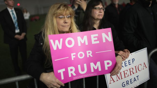 gettyimages 952548908 Trump Says He Relishes Enthusiasm, Love at Michigan Rally