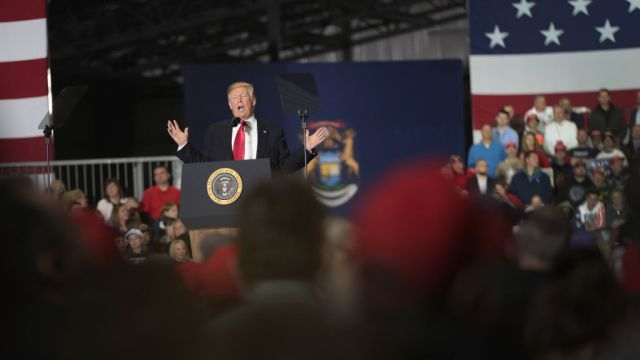 gettyimages 9525481141 Trump Says He Relishes Enthusiasm, Love at Michigan Rally
