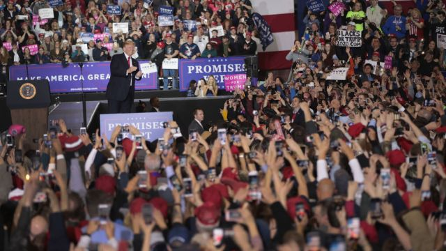 gettyimages 952548924 Trump Says He Relishes Enthusiasm, Love at Michigan Rally