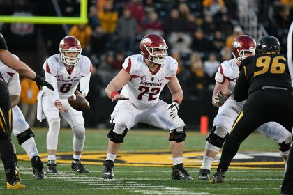 gettyimages 626712128 Lions draft Arkansas center Frank Ragnow No. 20 overall