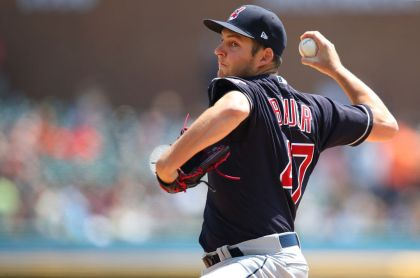 gettyimages 959239268 Bauer fans 10 as Indians blank Tigers 6 0