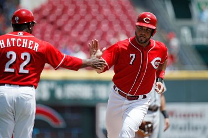 gettyimages 9795940082 Gennett, Suarez HRs rally Reds over Tigers 5 3