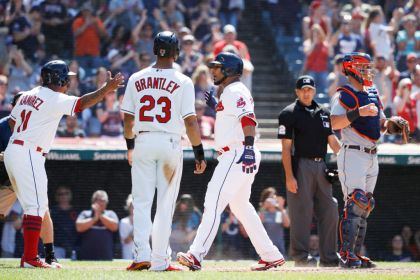 gettyimages 9830076221 Encarnacion Hits Grand Slam As Indians Pound Tigers 12 2