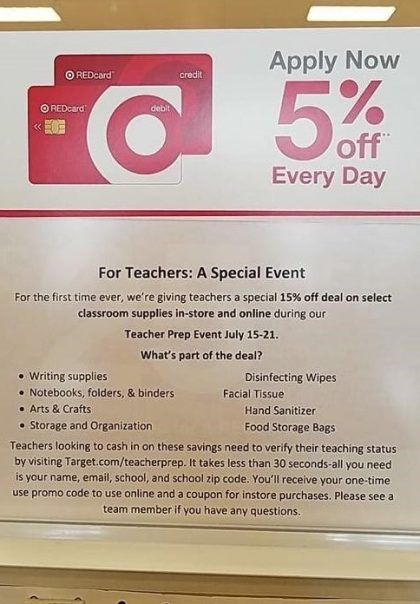 target e1531330129534 The Teacher Prep Event At Target Is Legit