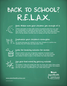 relax Going Back To School? R.E.L.A.X.