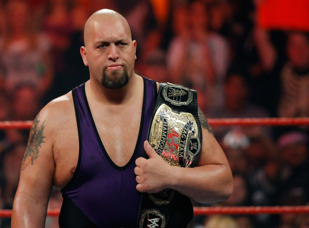 Wrestler Big Show appears in the ring during the WWE Monday Night Raw show at the Thomas & Mack Center August 24, 2009 in Las Vegas, Nevada.