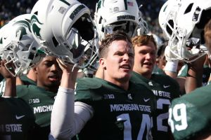 gettyimages 10430663082 Lewerke On The Spot Against Michigans Tough Defense