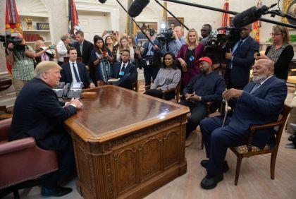 gettyimages 1051896742 1 Kanye West Tells Trump MAGA Hat Makes Him Feel Like Superman
