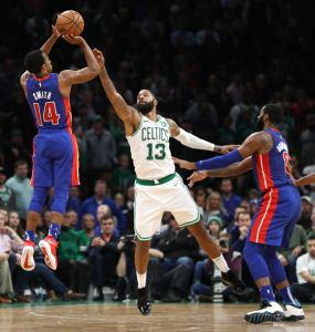 gettyimages 1055605756 Irving Scores 31, Celtics Beat Pistons Again 108 105