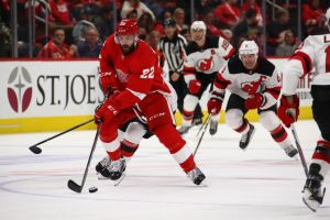 gettyimages 1056139078 Red Wings Beat Devils 4 3 With 2 Short Handed Goals In 3rd