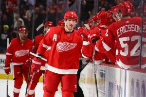gettyimages 1056145628 Red Wings Beat Devils 4 3 With 2 Short Handed Goals In 3rd