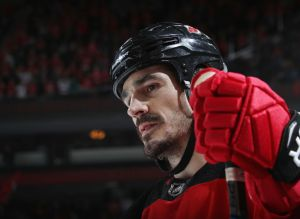 gettyimages 1056530026 Cancer Survivor Brian Boyle Notches Hat Trick On Hockey Fights Cancer Night