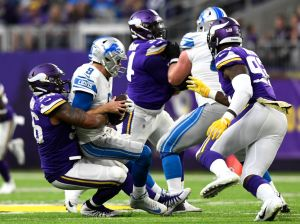 gettyimages 1057323074 Sad Sack Lions: Stafford Downed 10 Times In Loss To Vikings