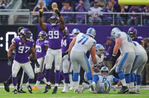 gettyimages 1057417828 Sad Sack Lions: Stafford Downed 10 Times In Loss To Vikings
