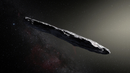 oumuamua asteroid space Cigar Shaped Interstellar Object May Have Been Alien Probe, Harvard Paper Claims