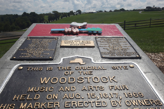 GettyImages 89789993 Woodstocks 50th Anniversary Celebrated With Dozens Of Statues