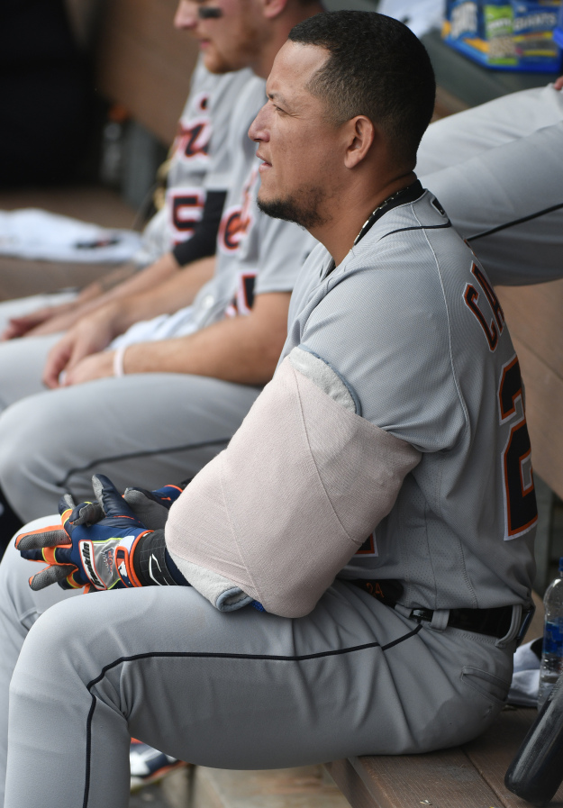 GettyImages 954341758 2 Miguel Cabrera To Be Limited In Spring Training After Biceps Surgery