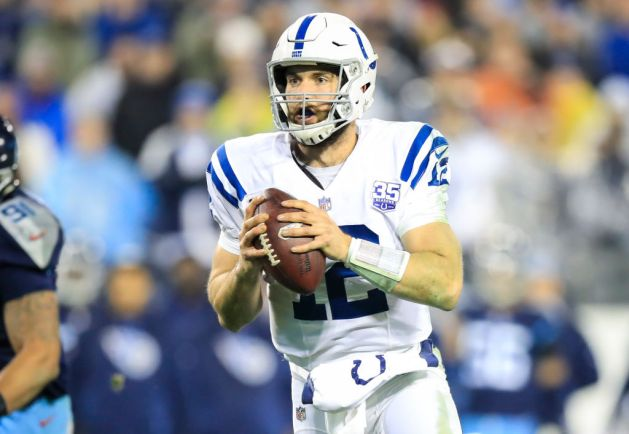 Andrew Luck #12 of the Indianapolis Colts runs with the ball against the Tennessee Titans during the fourth quarter at Nissan Stadium on December 30, 2018 in Nashville, Tennessee.