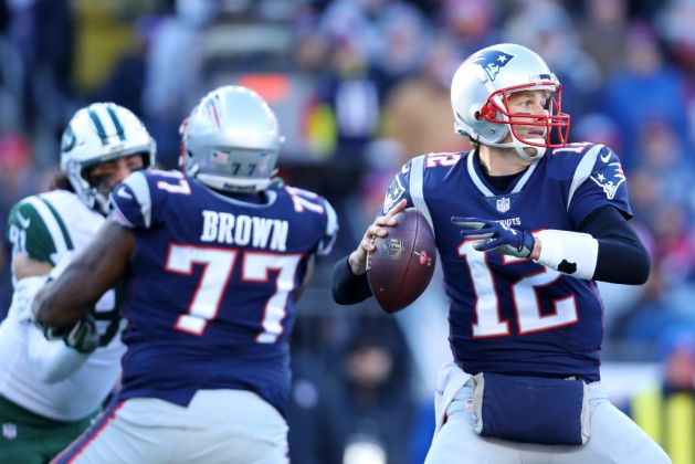 Tom Brady #12 of the New England Patriots makes a pass during the game against the New York Jets at Gillette Stadium on December 30, 2018 in Foxborough, Massachusetts.
